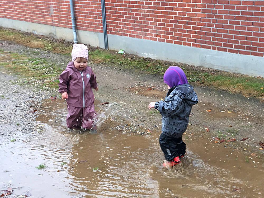 udendørs leg i dagplejen