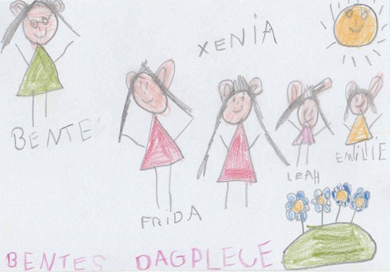 Fridas tegning til Bente